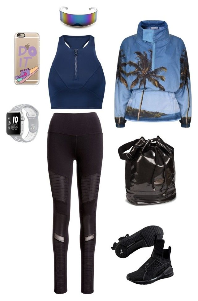 """Exercise in style!"" by lawastyle on Polyvore featuring adidas, Alo Yoga, Puma and Casetify"