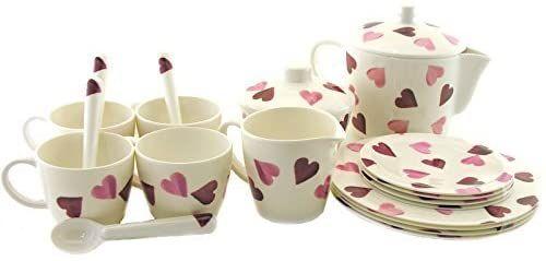 Emma Bridgewater Pink Hearts Melamine Children S Tea Set Amazon Co Uk Kitchen Home In 2020 Childrens Tea Sets Childrens Tea Emma Bridgewater