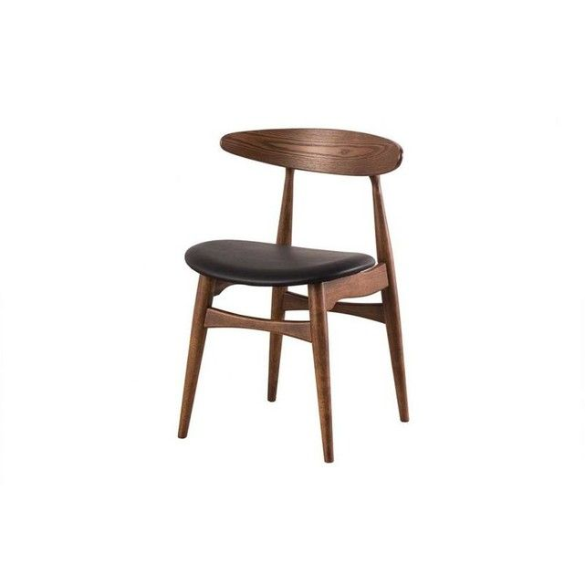 Miliboo Chaise Bois Clair Et Pu Noir Design Scandinave Japonais Walford La Redoute Chaise Chaises Bois Salle A Manger