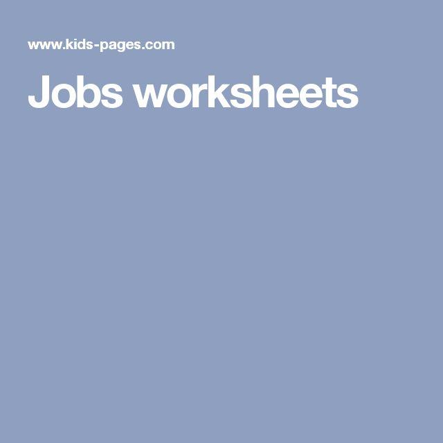 Jobs worksheets