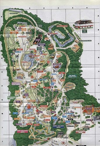 Best Theme Park Map Ideas On Pinterest Map Of Central - Map of amusement parks in the us