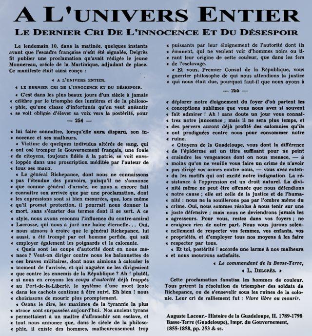 Delgres Monnereau Vivre libres ou mourir - Louis Delgrès — Wikipédia