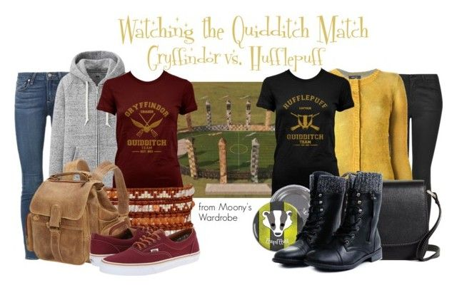 """Watching the Quidditch Match"" by evalupin ❤ liked on Polyvore featuring Topshop, Paige Denim, Uniqlo, Avant Toi, Chan Luu, Brooks Brothers, Le Donne, Vans, harrypotter and hogwarts"