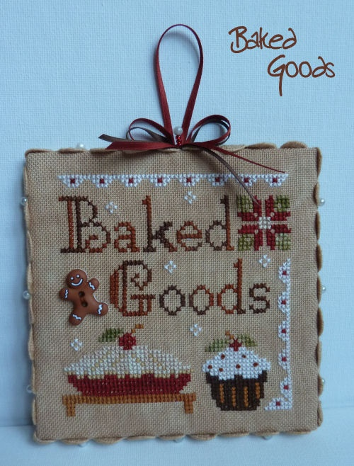 Little House Needleworks Ornament - nice to attach to a homemade baking gift!