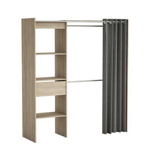 ebern designs kleiderschrank moran 187 cm h x 168 2 cm b x 50