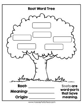 Greek and Latin Roots Root Word Tree Graphic Organizer