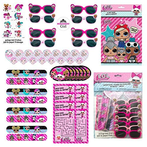 LOL Surprise Dolls Birthday Party Favor Set for 16 Guests – Includes Goody Bags,… – Toys