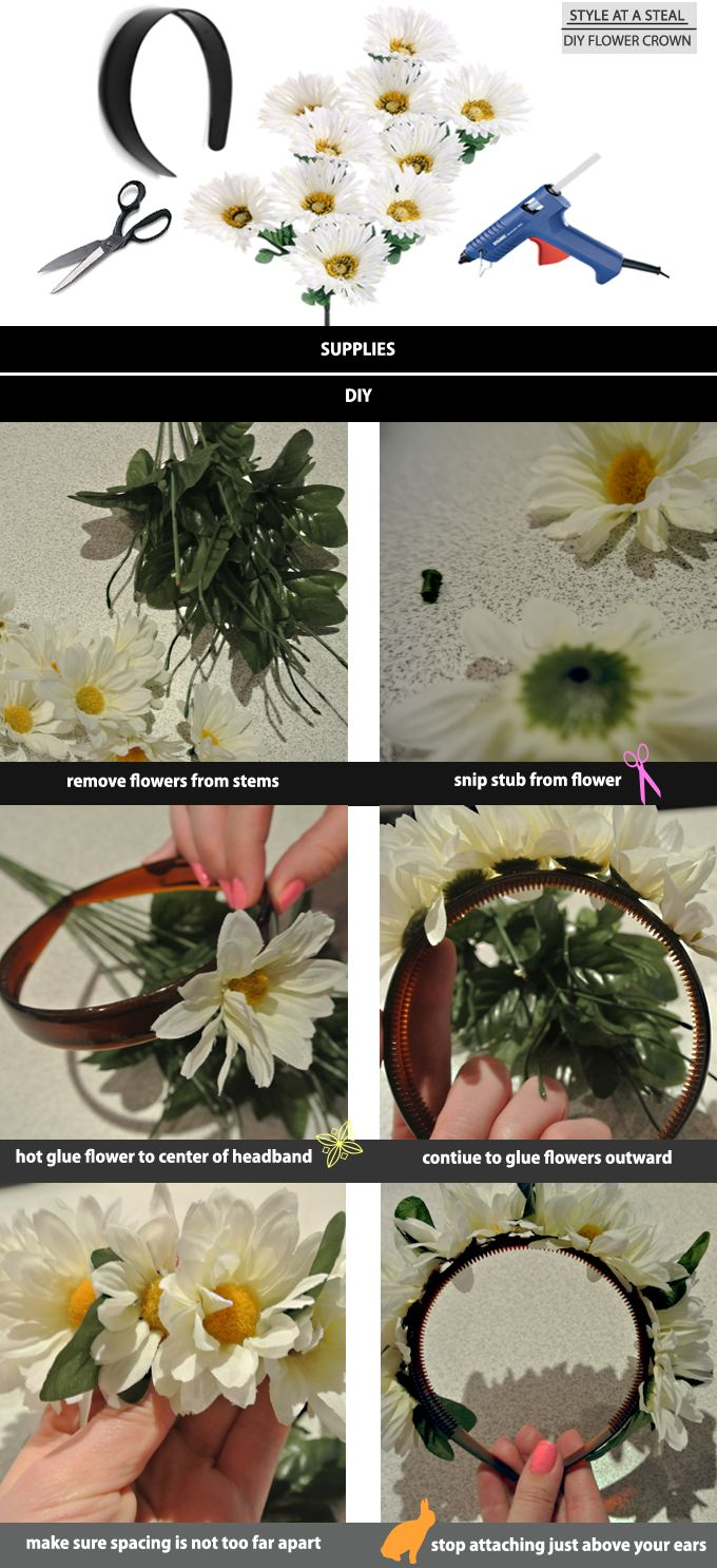 Style at a $teal / How to make a DIY Floral Headband