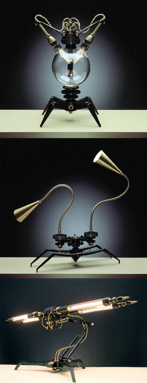 The lamps are all limited edition, hand made pieces of art by Frank Buchwald. The cheapest one is $3,900 and the most expensive is a whopping $15,500. You better be serious about your lamps if you are going to get one of these…