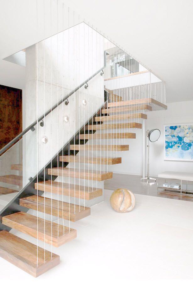 diseo de escaleras con peldaos de madera