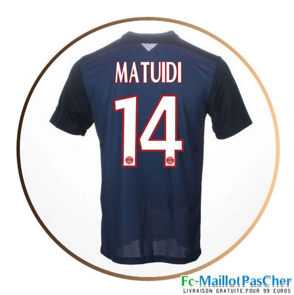 Maillot du Paris PSG Bleu MATUIDI 14 Domicile 15 2016 2017
