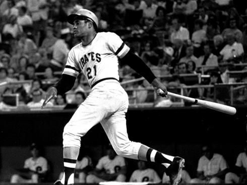 July 25, 1956: At Forbes Field against the Cubs, Pittsburgh Pirates star Roberto Clemente hits Major League Baseball's first (and to date only) walk-off inside-the-park grand slam.