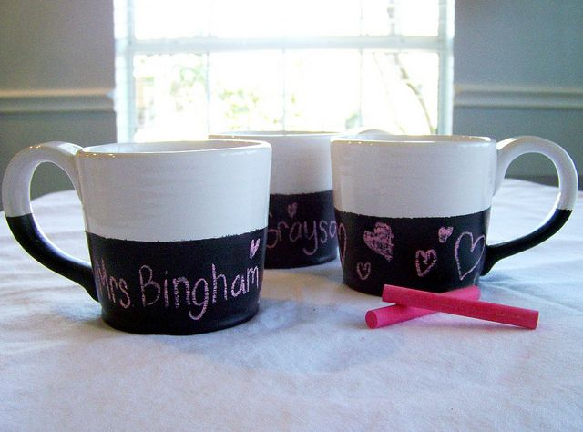 Chalkboard mugs for teachers