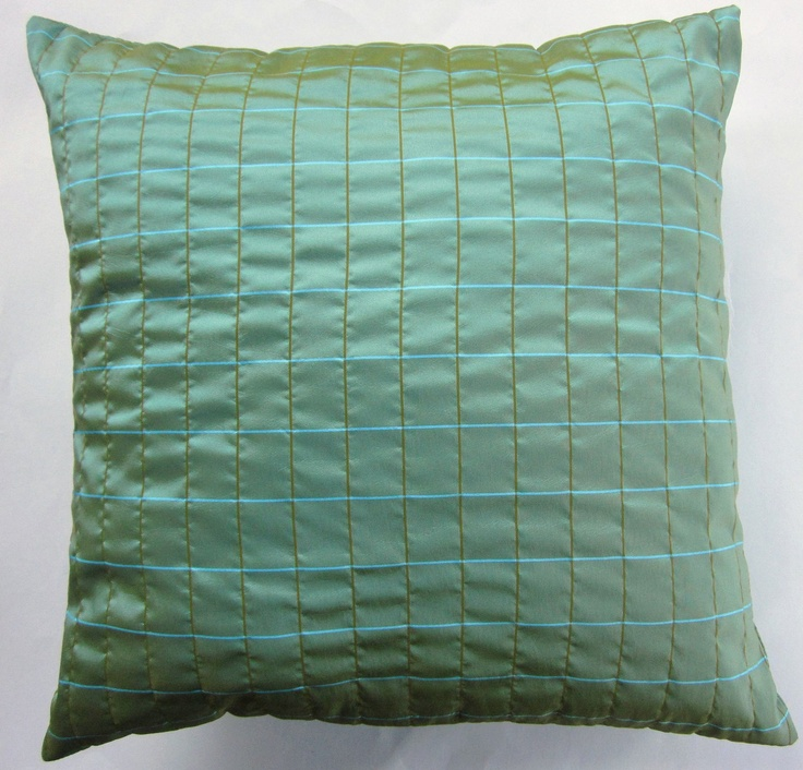 Light Teal Green Throw Pillow Cover with Turquoise by sassypillows, $16.99