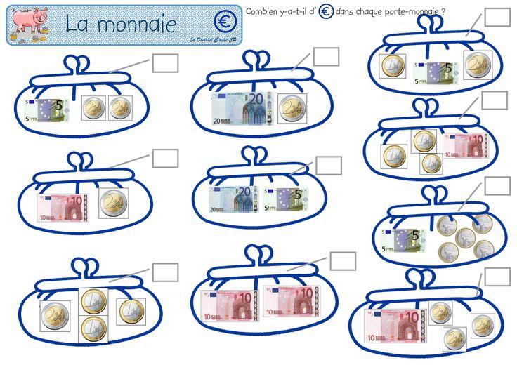 les euros, petits problèmes mercantiles - La domrod classe CP
