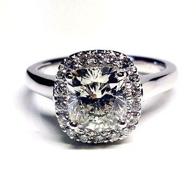 'Halo' Engagement Ring - Cushion Diamond - Diamond Imports