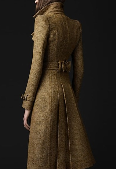 Tailored wool trench coat by Burberry... Not a fan of wool but the cuts are very very nice