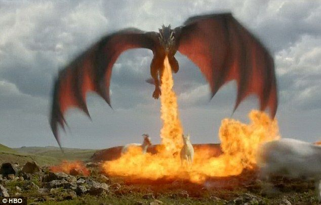 Dany's Dragons | Goat meat: One of Dany's dragons scorched a goat and flew off with it