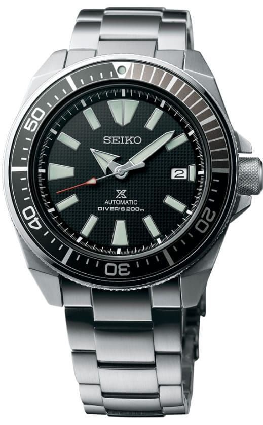 New Seiko Automatic Prospex Samurai Divers 200M Mens Steel Bracelet Watch SRPB51 Guaranteed 100% Brand New and Authentic. This watch will ship with original Seiko box, warranty card and instructions manual. Brand Name Seiko Model SRPB51 Con...