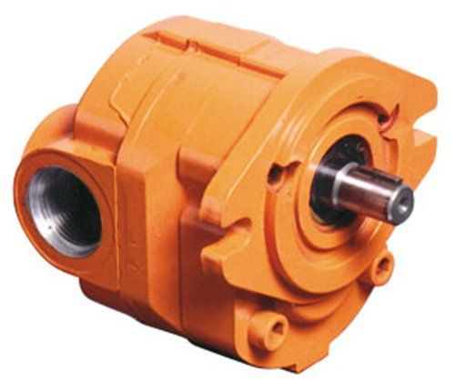 """CROSS Manufacturing 360114 40P010 LACSA Aluminum Hydraulic Gear Pump, Left Hand Rotation, SAE """"A"""" Mounting, Keyed Shaft, 1.00 Cu In/Rev Displacement, Orange"""