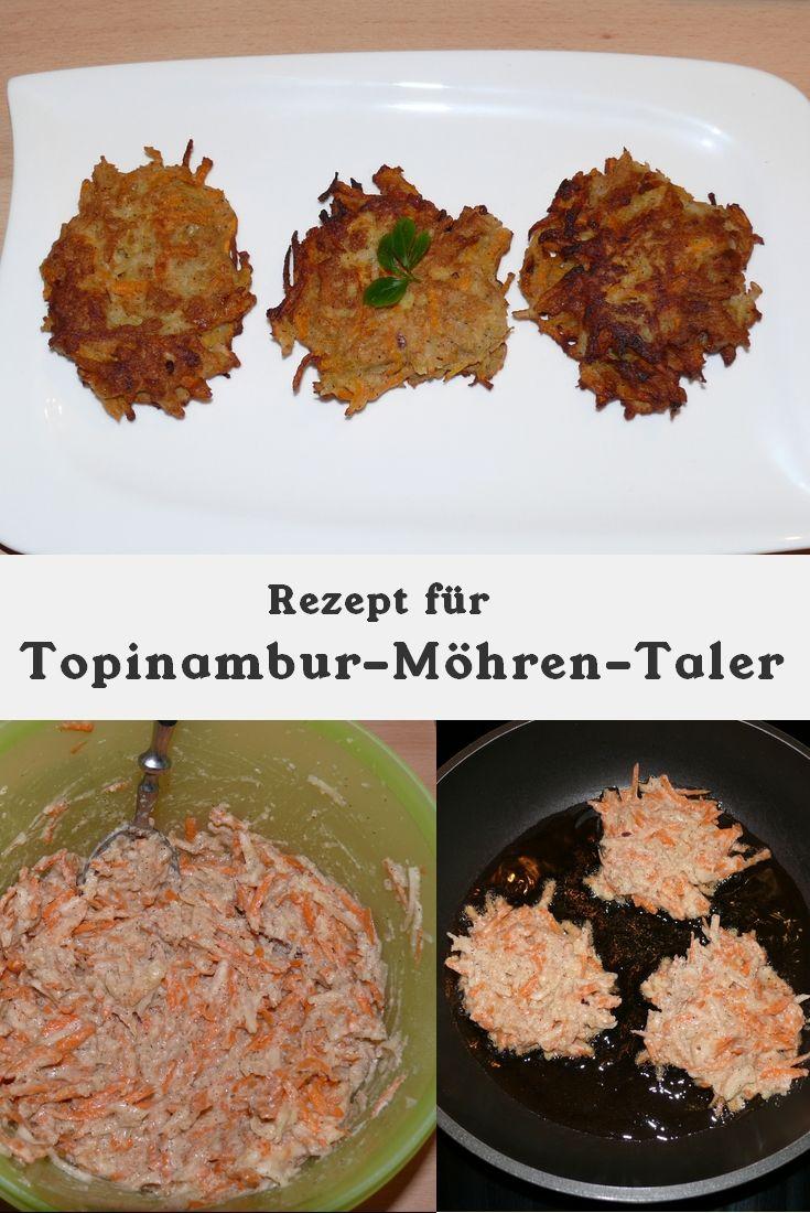 Rezept für Topinambur-Möhren-Taler, gesund und lecker.