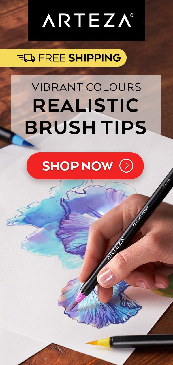 Watercolour Real Brush Pens Set Of 48 Brush Pen Watercolor