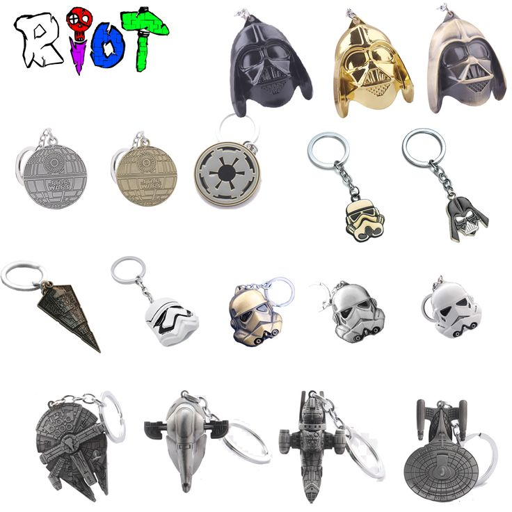Star Wars Keychain Spacecraft warship Han Solo's Millennium Falcon Destroyer Ship StormTrooper Darth Vader Helmet Key Chains Toy //Price: $9.42 & FREE Shipping //   #dragonballz #anime