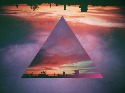 graphic design, sunset, triangle