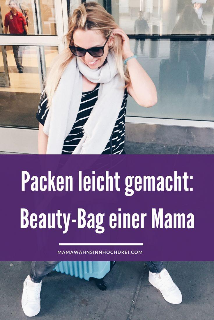 Schnell packen - die Beauty-Bag einer Mama. Damit bei Reisen und Ausflügen alles bereits ist. MamaWahnsinnHochDrei Mamablog rund ums Kind