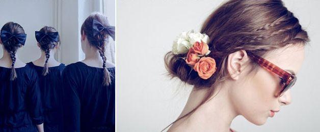 Trecce-accessoriate-con-nastri-fiori-fiocchi-e-altro-materiale.jpg 628×260 pixel