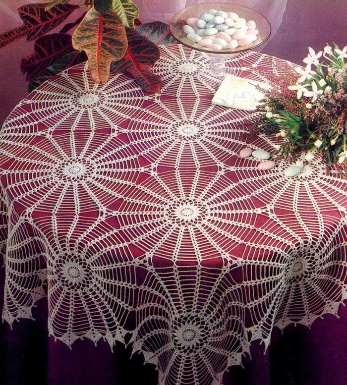 Crochet Lace Tablecloth Pattern - Wonderful