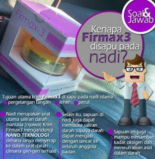 Berikut Beberapa Alasan Mengapa Cream Oles Firmax3 Harus Dioleskan Pada Nadi