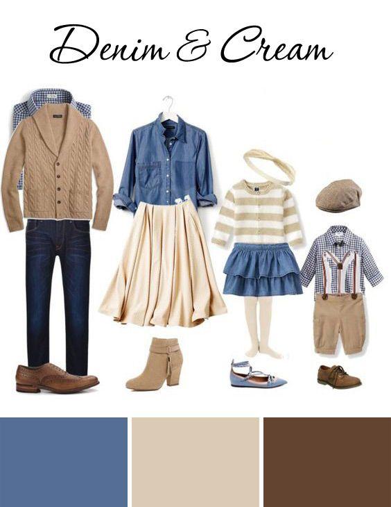 Denim cream fall family outfit