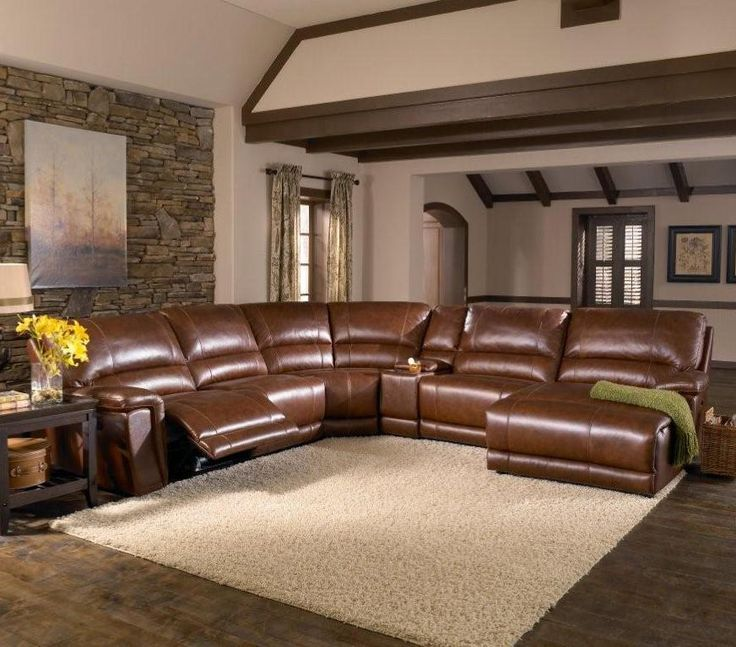 reclining sectional sofas leather with nailheads chaise sofa