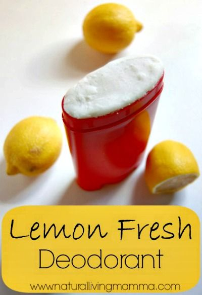 DIY All-Natural Lemon Fresh Deodorant Recipe