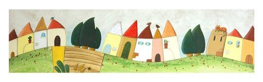 """""I colori della Campagna""  ""colors of the countryside"""" by cinzia mazzoni on #INPRNT - #illustration #print #poster #art"