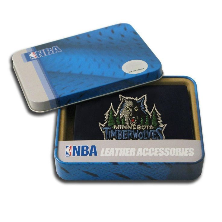 Minnesota Timberwolves Nba Embroidered Trifold Wallet Leather