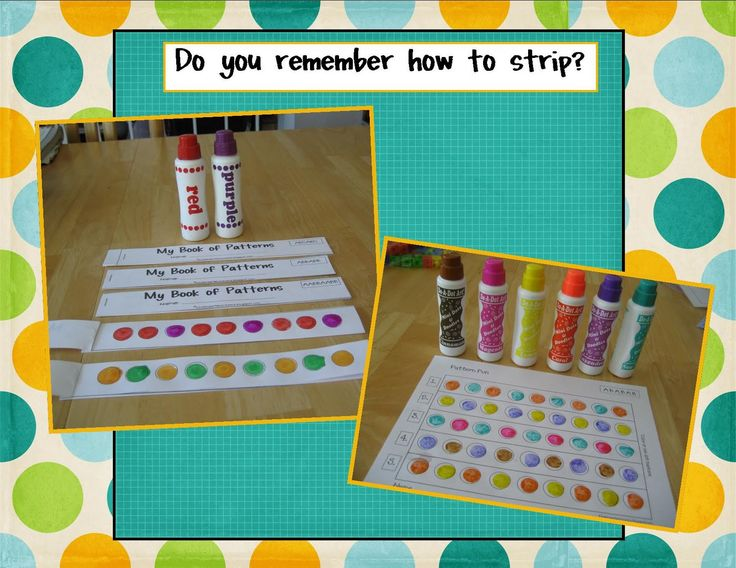 Here's a book for students to create their own pattern strips.