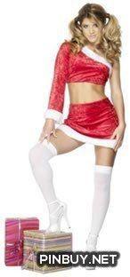 Fabfancydress Adult Fever Santa's Little Helper Costum - PinBuy