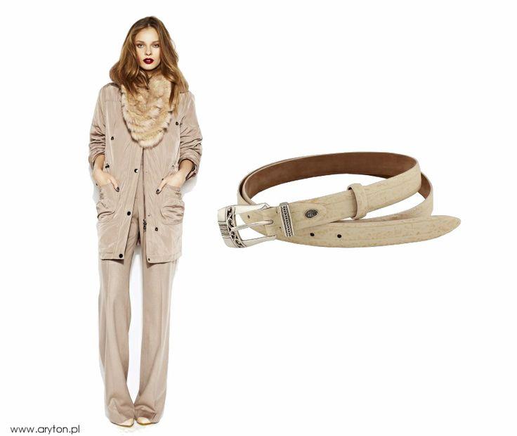 Nie tylko czerń dodaje elegancji. Spróbuj zdecydować się na pastele. Nie zapomnij jednak, jak ważne są dodatki! www.beltguys.pl   #pasek #belts #women #leather