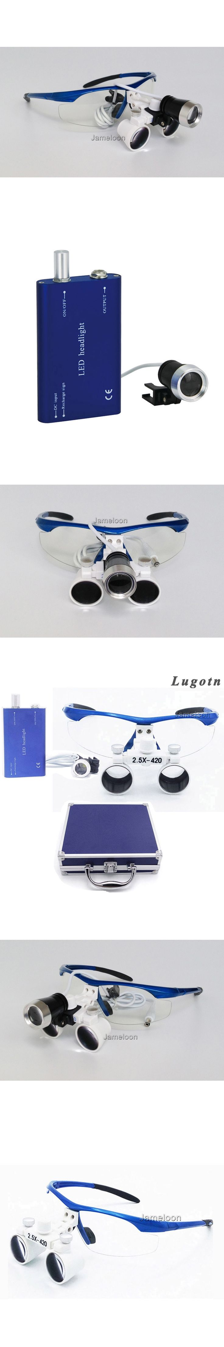 Metal box 2.5X enlarging surgical magnifying led head light ENT loupe dental operation ear doctor magnifier lens