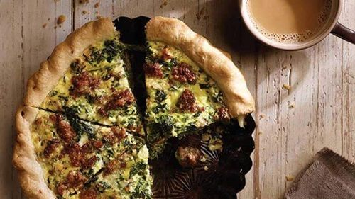 Sausage Spinach Quiche Breakfast Recipe - Jimmy Dean