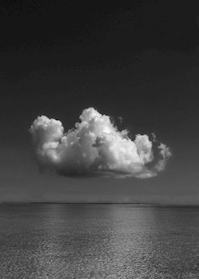 Black and white photography of a cloud in Japan, Asia.  Available as poster at printler.com, the marketplace for photo art. Photographer Caroline Salde.