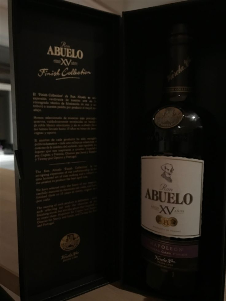Abuelo XV Rum from Panama - very good taste with a flavour of vanilla 9/10