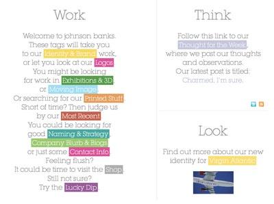 Johnson Banks redesigned website
