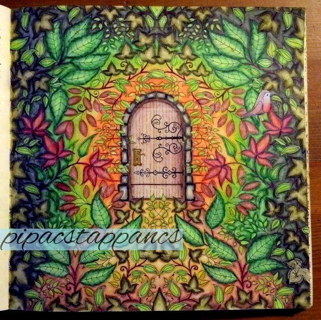 Johanna Basford: Secret Garden- my coloring, pipacstappancs