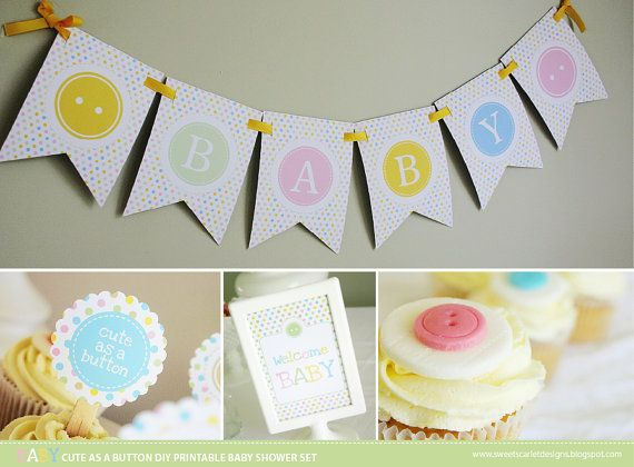 All Things Beautiful: Cute As A Button Baby Shower #Printables | Mom and Baby Beautiful