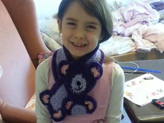 #craftshout0208  https://www.etsy.com/listing/211272941/adorable-crocheted-teddy-bear-scarf