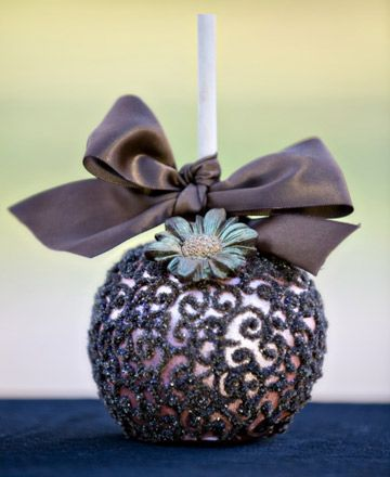 Hand-Decorated Candy Apples. These are amazing!!! I bet the cost of these babies are completely ridiculous but I would love these!