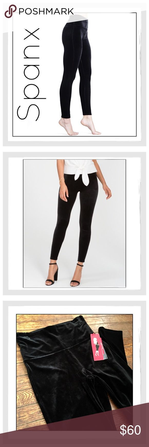 ✨Spanx 'Ready To Wow' Black Velvet Leggings✨ ✨Spanx 'Ready To Wow' Black Velvet Leggings✨Look your best when getting dressed with SPANX Ready-to-Wow leggings✨This stunning style has the slim built-in, shapes your silhouette while looking chic, and instantly makes your wear-and-wow wardrobe complete✨Slimming leggings that are meant to be seen✨Chic Shaping Waistband fully flattens the tummy for a wardrobe-wowing experience✨Fabric keeps your rear and thighs looking better than ever✨Fabric…